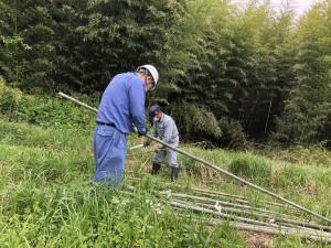 竹支柱準備2